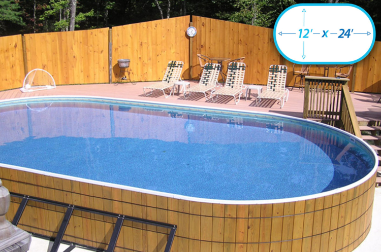 Wooden Oval Above Ground Pools Crestwood