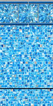 Sunburst Tile - Azure Print