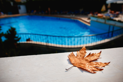 fall autumn swimming pool